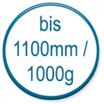 up to 1100mm/1000g
